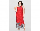 76% off Ashley Stewart Border Print Maxi Dress