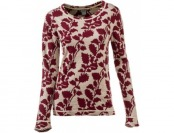 67% off Natural Reflections Jacquard Crewneck Top for Ladies