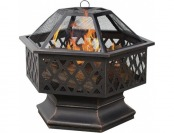 77% off UniFlame 6-Sided Oil Rubbed Bronze Outdoor Firebowl