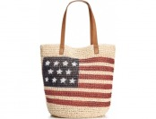 78% off Style & Co. Flag Straw Beach Bag