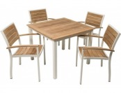 80% off Three Birds Casual Soho Square Dining Table with Armchairs