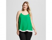 70% off Women's Plus Size Color Block Layered Tank Top