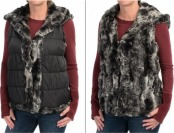 93% off Dylan Faux-Fur Reversible Vest For Women