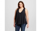 78% off Women's Plus Size Sleeveless Woven Fashion Tops