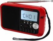 76% off Emergency Radio First Alert Alarm Clock, Red
