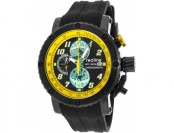92% off Red Line GTO Chronograph IP SS Yellow Accents Watch