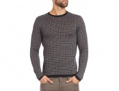 80% off Saks Fifth Avenue Collection Jacquard Square Print Sweater