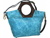 72% off Nino Bossi Cut it Out Denim Leather Handbag