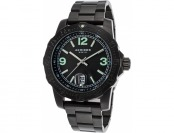 93% off Akribos XXIV Men's Essential Black Ion Plated SS Watch