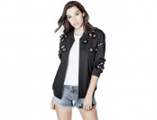 63% off Guess Embellished Boyfriend Bomber Jacket