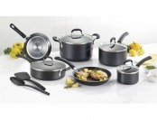 $75 off T-Fal Expert Pro 12-Piece Cookware Set - Black
