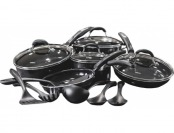 50% off Cuisinart 15-Piece Ceramic-Coated Cookware Set - Black