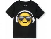 58% off Toddler Boys Short Sleeve Headphone Emoji Graphic Tee