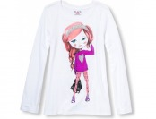52% off Long Sleeve Glitter Heart Girl Graphic Tee