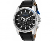 94% off Red Line Fastrack Chronograph Black Leather Watch
