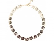 96% off Goldtone Black To Clear Ombre Crystal Necklace