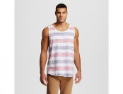 70% off Men's Big & Tall Tank Top Americana Stripe White