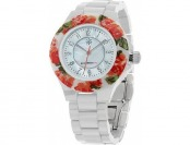 73% off Isaac Mizrahi Live! Ceramic Watch with Floral Printed Bezel