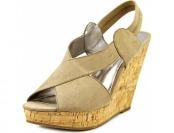 89% off Carlos Santana Moneta Open Toe Synthetic Wedge Sandal