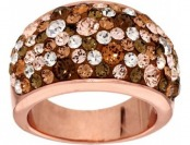 69% off Bronzo Italia Bold Domed Shades of Crystal Ring