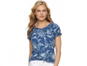 70% off Women's Chaps Printed Raglan Peasant Top