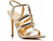 76% off Ivanka Trump Hazen Metallic T-Strap High Heel Sandals