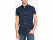 66% off Kenneth Cole Men's Reverse Brushstroke-Print Shirt