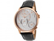 93% off Lucien Piccard Messina Dual Time Black Leather Watch