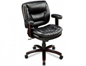 60% off Realspace Elmhart Low-Back Bonded Leather Task Chair