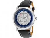 88% off Lucien Piccard Men's Ruleta Black Leather Watch