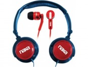 53% off Naxa 2-In-1 Combo Super Bass Headphones & Earphones