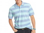 80% off IZOD Mens Oxford Stripe Polo Shirt