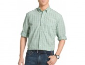70% off IZOD Mens Long Sleeve Windowpane Shirts