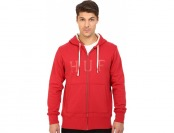 80% off HUF Brooks Thermal Zip-Up Hoodie (Red) Men's Sweatshirt