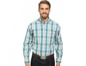 80% off Tuf Cooper Long Sleeve Button Down (Turquoise)
