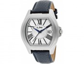89% off A_Line Adore Distressed Leather SS Tonneau Watch