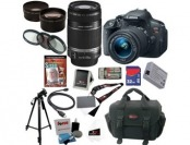 $540 off Canon EOS Rebel T5i SLR Camera Kit, Kit Includes 17 Items