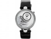 85% off Akribos Xxiv Women's Fiora Diamond & Crystal Leather Watch