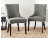 45% off Safavieh Lester Linen Upholstered Dining Chair Set of 2