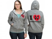 50% off Deadpool I Love Chimichangas Zip Up Ladies Hoodie