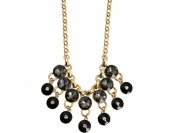 94% off Black And Gold Cz Accent Statement Necklace