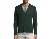 91% off Dark Green Cashmere V-neck Button Front Cardigan