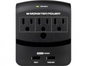 59% off Monster Core Power 350 Surge Protector w/ 2 USB Ports