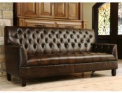 75% off Abbyson Living Revello Hand Rubbed Leather Sofa