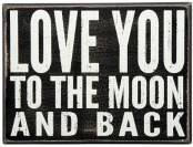 "80% off Love You"" Wooden Box Sign Art, Multicolor"