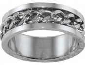 90% off Men's Stainless Steel Rope Detail Ring