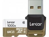 15% off Lexar 64GB Professional 1000x UHS-II microSDXC Card