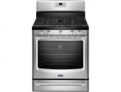 $350 off Maytag AquaLift Gas Range with Self-Cleaning Convection Oven
