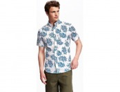 76% off Old Navy Printed Slim Fit Poplin Shirt For Men