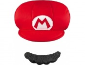 67% off Super Mario Brothers Mario Kids Hat & Mustache